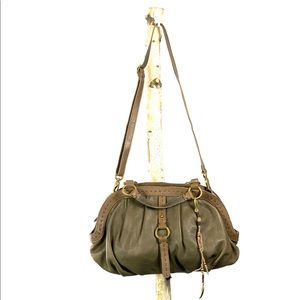 Lucky Green & Brown Leather Purse